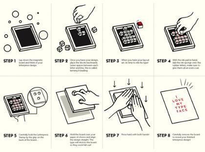 letterpress stamp - booklet