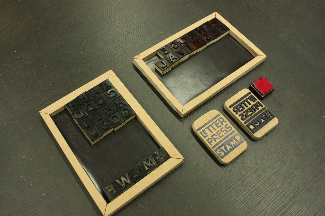 letterpress stamp - prototyping 2