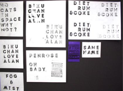 letterpress stamp - board