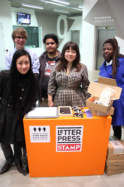 letterpress stamp - team