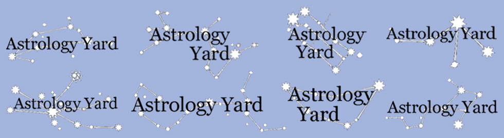astrology yard - initial ideas